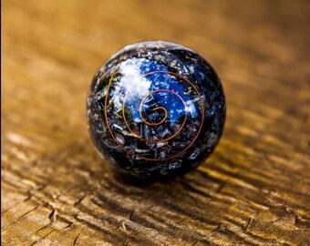 Black Tourmaline Orgone Sphere/ Gemstone Orgonite Sphere/ Crystal Ball