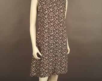 Black Floral Shift Dress