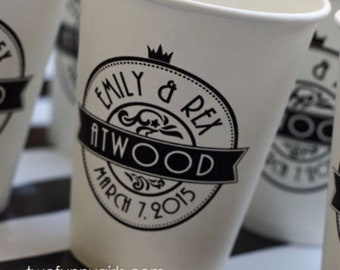 Personalized Paper Coffee Hot Cups with Custom Print