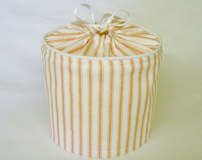farmhouse decor rustic country, Coral Stripe Toilet Paper Cover, Spare Roll Cover,  Bathroom Decor, Bathroom Storage,