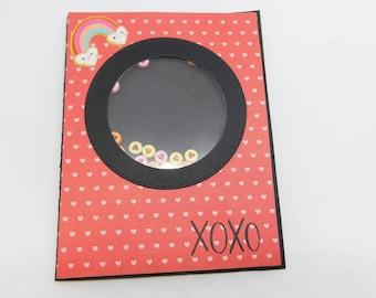 Valentine's Day Heart Bead Shaker Card.