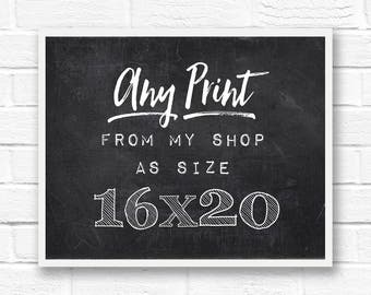 16x20 print, custom art prints, wall art photography, large photo prints, large poster, quote print, fine art prints, word art, travel print