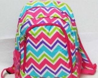 Personalized  Girls CHEVRON Backpack   CHEVRON Bookbag