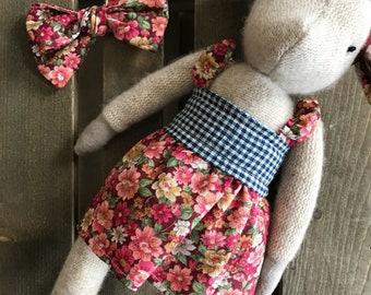Emma The Goat / My and My Designs Collaboration / Handmade / Heirloom Doll / Nursery Decor / Stuffed Animal / Baby Gift / Modern Farmhouse