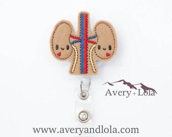 Kidney Badge Reel, Medical Badge Reel, Medical ID Holder, Nurse ID Holder, ID Badge Holder, Teacher Gift, Nurse Gift