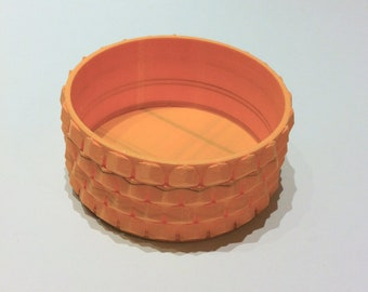 3D Printed Trinket Bowl, Honeycomb Pattern, Ring Dish, Catch-all Bowl, Jewelry Bowls,Table/Desk Deco, Shelf Deco, Eco, Unique