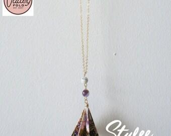 Dewdrop Origami Necklace