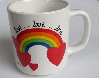 80's Vintage Rainbow Love Mug