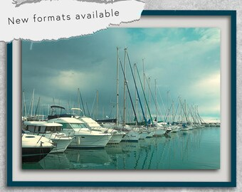 poster poster photo boats Marina printable decoration instant download A1 A2 A3 A4 A5 20 X 16 24 X 18 36 X 24 70 X 50 90 X 60