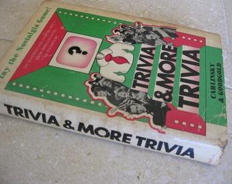 Trivia And More Trivia Book 1966 Nostalgic Game Book