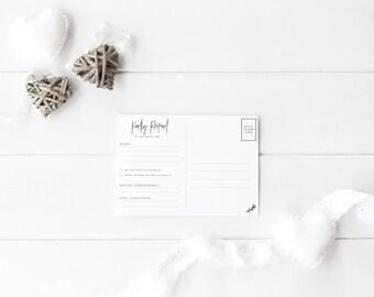 Minimal Wedding RSVP Postcard - Printable