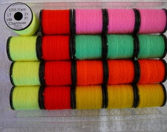 Uni-Fluorescent Yarn  ....20 Spool Combo..... In Assorted Colours..........