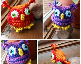 Tuft Eared Owl Amigurumi Toy - MADE to ORDER- shower gift, Valentine's Day, Birthday, stocking stuffer
