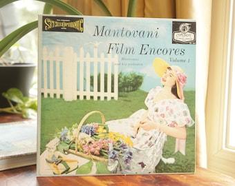 Vintage Mantovani Film Encores Volume 1 Record, Mantovani and His Orchestra Album, Musical Soundtracks LP, Promotion Copy