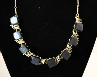 CORO Necklace Charcoal Lucite