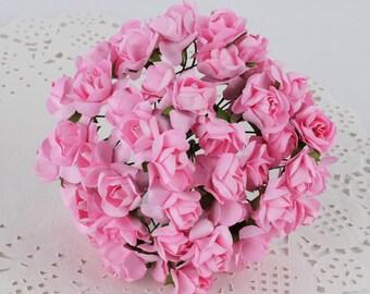 Pink Paper Roses-2 bundles-24 roses