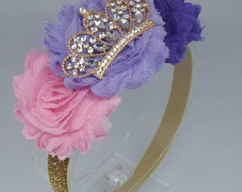 Disney Princess Rapunzel Inspired Tiara Purple Boutique Hair Accessory
