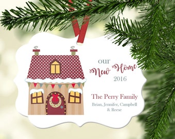Personalized our New Home Ornament~ First Home Ornament~Christmas Ornament ~Family Ornament