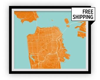 San Francisco Map Print - Choose your color