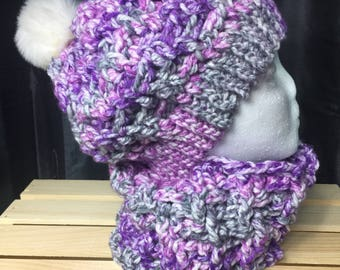 Women's Slouch Hat And Matching Neckwrap