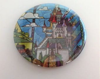 Beauty and the Beast Castle Pocket Mirror