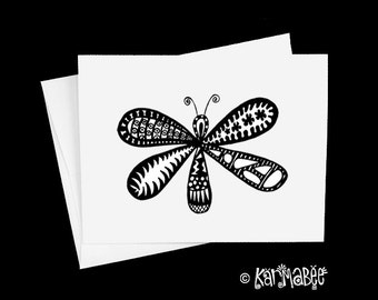 Dragonfly Note Card Blank Notecards