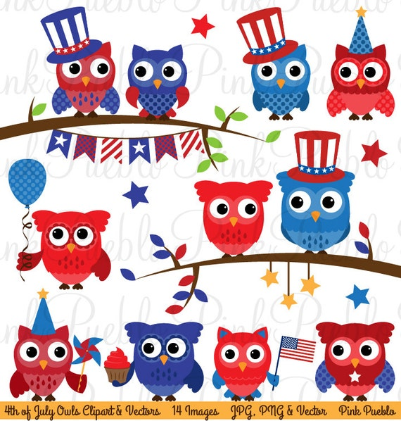 May The 4th Be With You Clip Art: Fourth Of July Owl Clipart Clip Art Happy 4th Of July Owls