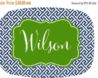 Memorial Day Sale Personalized Melamine Platter - Custom Personalized Tray holiday Monogram