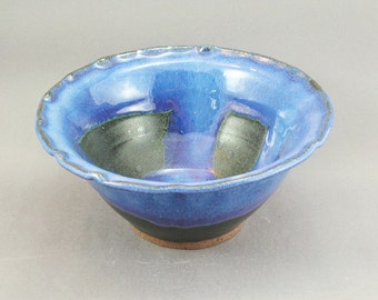 Pottery Bowl Stellar Purple - Rutile Blue - Green To Black SPCHUNGTB01