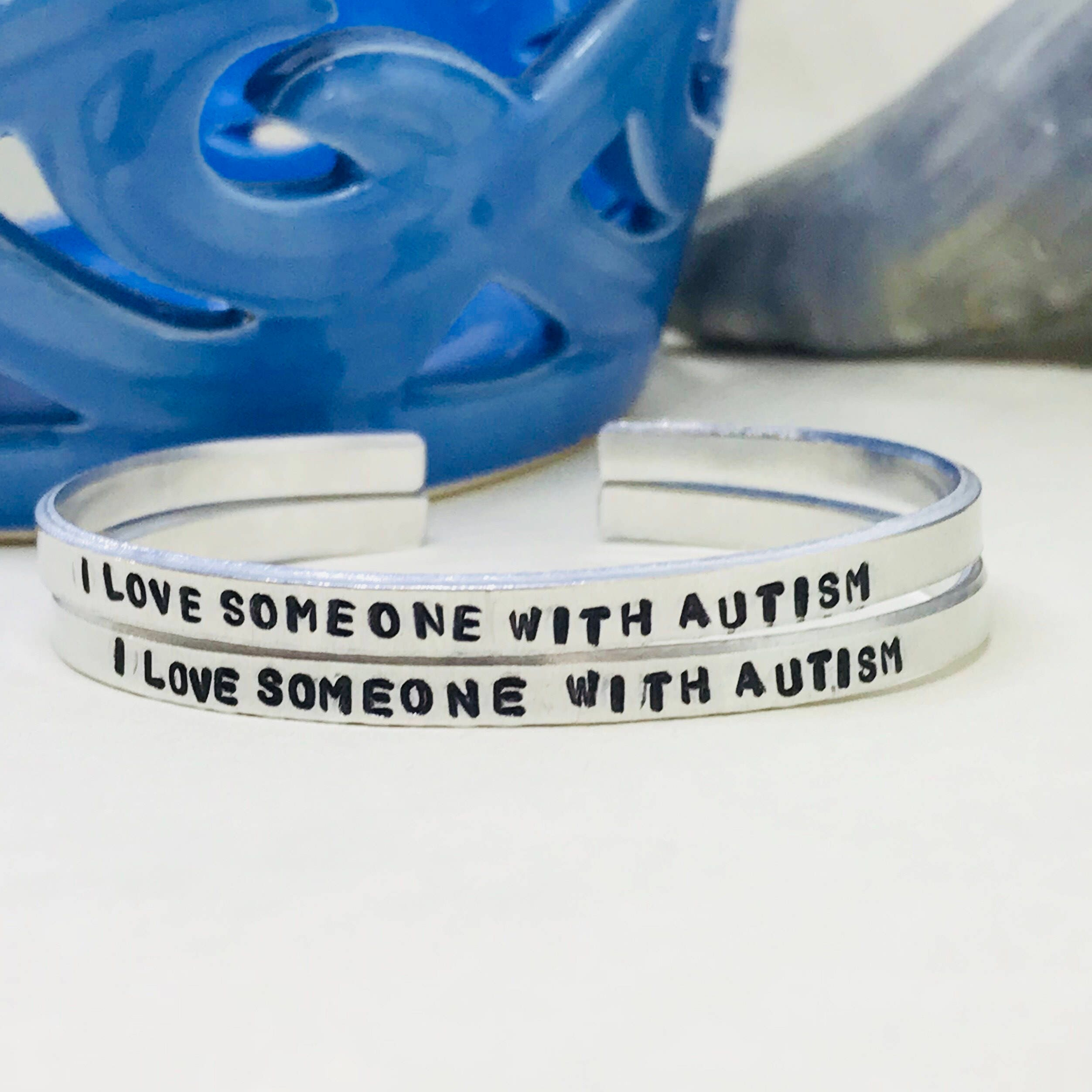 blue bracelet lego bricks autism dsc product uk