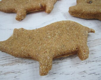 This Little Piggy Oinkers Gourmet Dog Treats ~ Homemade Bakery Dog Biscuits ~ Pig Shaped Dog Cookies ~ Healthy Dog Treats ~ Dog Snacks