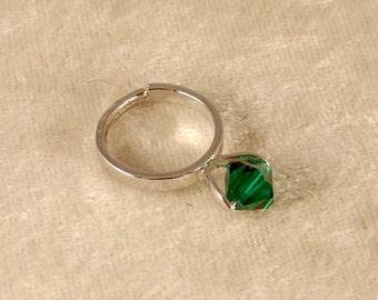 Emerald Swarovski Crystal Ring