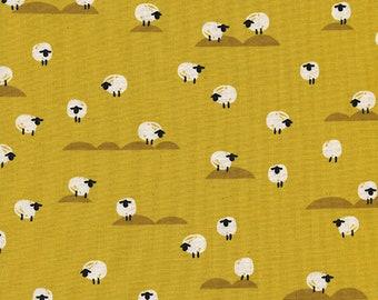 Cotton + Steel Panorama Sunrise - sheep - mustard - 50cm