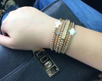 Gold filled bracelet stack