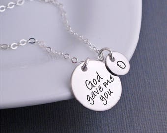 God Gave Me You Necklace, Mother's day Jewelry for Mother, Gift for Mom, Gift From Kids, Religious Jewelry