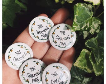 "The Smiths Lyrics ""This Charming Man"" 25mm Button Badge"