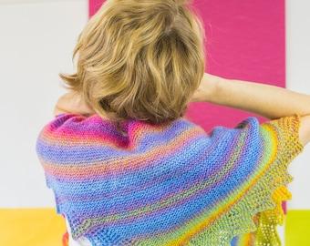 Phlegethon Shawl Kit - Fire Dreamer - Original Fingering - BFL Hand-Dyed Yarn