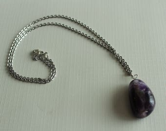 Amethyst Necklace - Stone Necklace - Silver Necklace - Mother's Day Gift