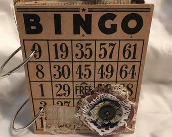 Vintage Bingo Card Junk Journal