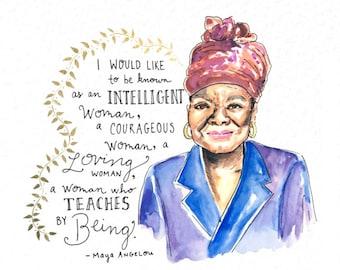 That's What She Said: Maya Angelou 8x10 art print