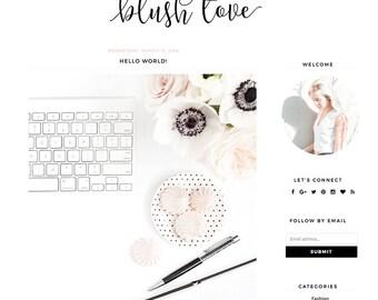 """Blogger Template - Mobile Responsive - Instant Digital Download - Complete Blog Design -""""Blush Love"""""""