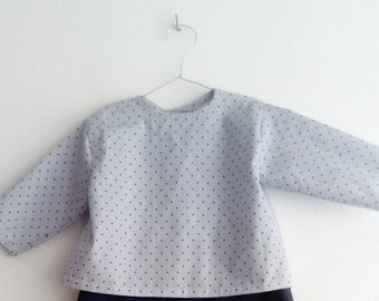 Polka-dot Baby shirt from 0 to 3 months