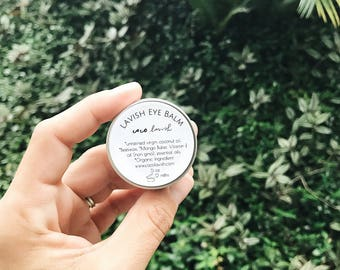 HYDRATING EYE BALM // eye cream // eye treatment // anti aging // hydrating //organic eye cream // organic / organic skincare // oils