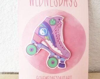 ROLLER DERBY Handmade Pin| Handmade| Roller Skate| Equality| Rainbow