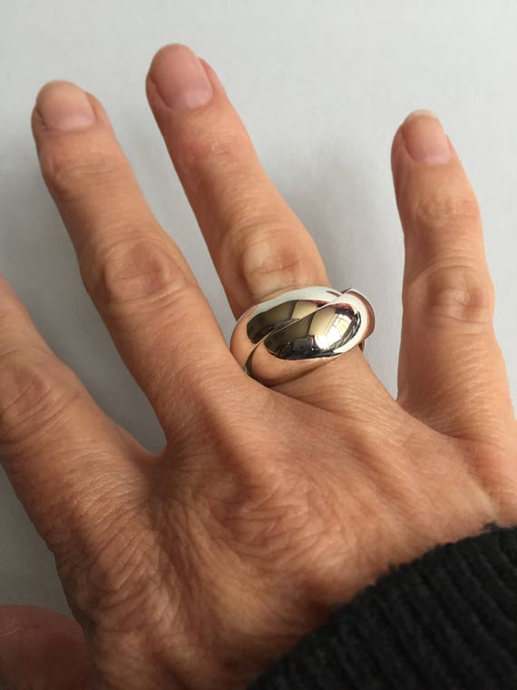 Sterling Silver Russian Wedding Ring Chunky Silver Ring Mens