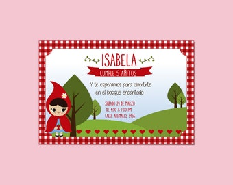 Little Red Riding Hood invitation/Riding Hood Digital invitation Red Riding Hood printable