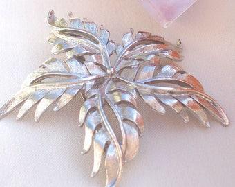 Vintage, 50 's 60 's, USA design, brooch, blossom, flower brooch, silver plated, Rockabella,