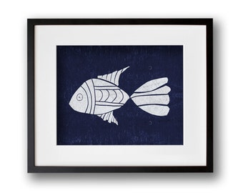 Fish Wall Art 8x10 or 11x14 Graphic Print