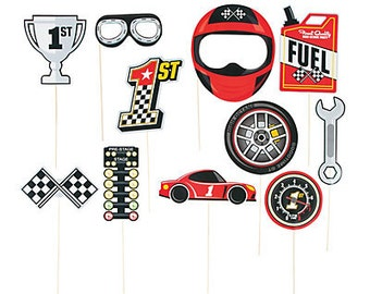 My Racing Car Party Photo Props   / Race Party/ Race car Party Theme / My race car theme / Race car