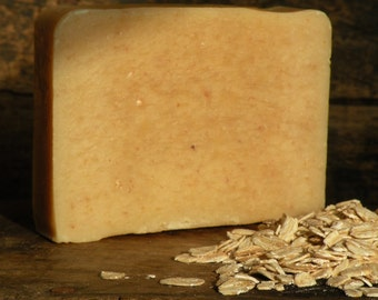 Harvest Moon handmade artisan soap bar- handcrafted natural exfoliating oatmeal soap